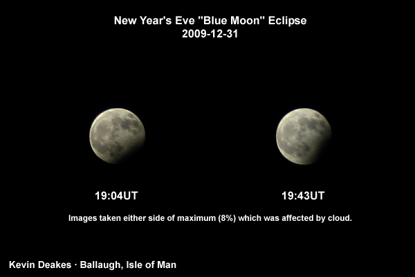 Lunar Eclipses from the Isle of Man